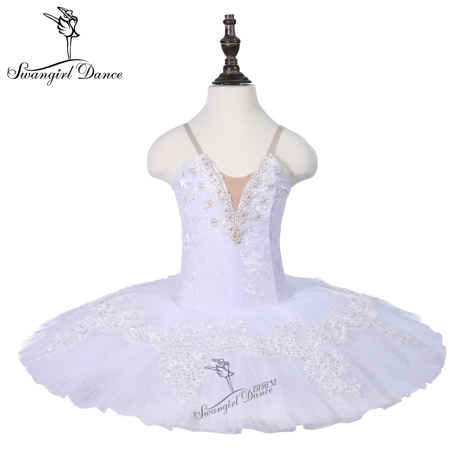 girls child white swan lake dance costume ballet tutu 7 layers ballerina performance ballet costume dance