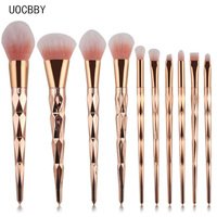 Make-up Pinsel Puder Rouge Lidschatten Eyeliner Augenbrauen Lip Make up Maquiagem Pinceis Pinsel Regenbogen Goldene Kosmetische Tool-Kits