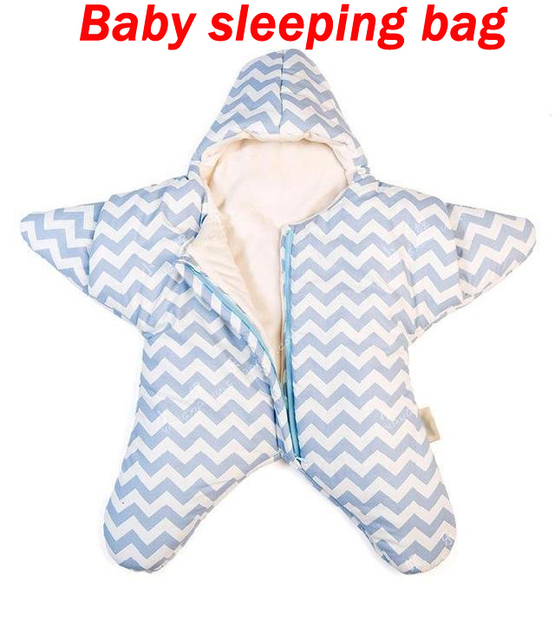 New Baby sleeping Star Bag winter Envelope for newborns sleep sack Cotton kids sleepsack in the carriage wheelchairs