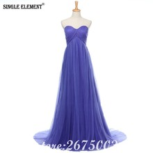 SINGLE ELEMENT Real Stretchy Tulle Pregnant Prom Dresses