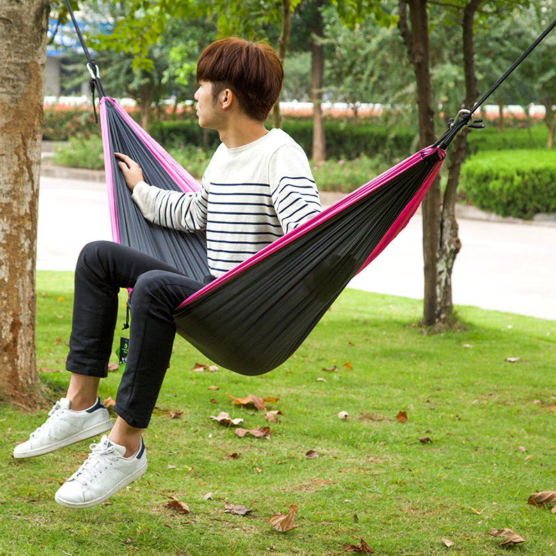 Sports & Entertainment Outdoor Funny Gear Garden Hammock With Rope & Hooks One Person Grey Color Hiking Camping Trekking Sleeping Bag Hammock Easy To Lubricate