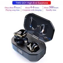 G01 TWS Stereo Bluetooth 5.0 Binaural Earphone Wireless Earpiece In-ear Earbuds Earphones Waterproof Sports Headset Charging Box