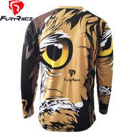 FURY RACE 2017 Motorcycle Offroad Cycling Clothing Men Owl Printing DH BMX Downhill Jersey Mountain Bike MTB Racing Cycle Shirts
