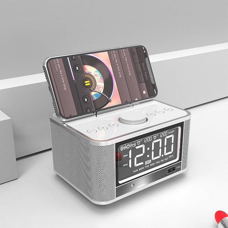 EXRIZU X7 4000 mah Batterie Drahtlose Bluetooth 4,2 Lautsprecher Dock Station Stereo Wecker FM Radio U Disk TF Karte USB AUX Player-in Tragbare Lautsprecher aus Verbraucherelektronik bei AliExpress - 11.11_Doppel-11Tag der Singles 1