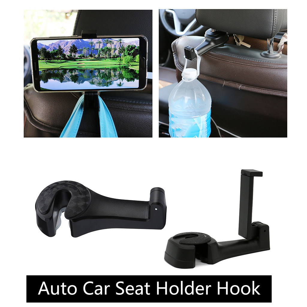 Fashion Style Jfbl Hot Sale Black Multipurpose Double Car Van Seat Back Hanger Organizer Hook Headrest Holder Bathroom Fixtures