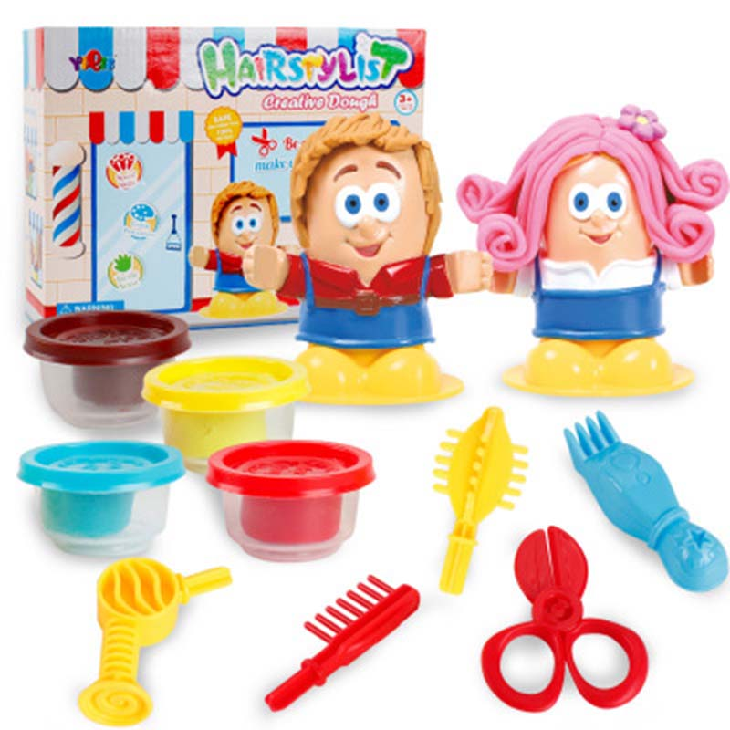 Toys For Children 3D Color Clay Plastic Mud Diy Mold Tool Set Educational Toys Creative Beauty Hairdresser Play House in Beauty Fashion Toys from Toys Hobbies