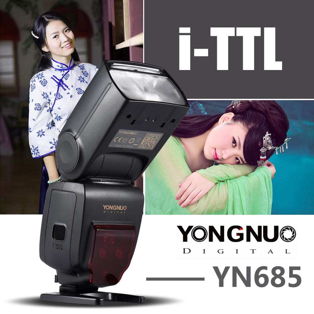 YONGNUO YN685 Wireless 2.4G HSS TTL/iTTL Flash Speedlite For Canon Nikon D750 D810 D7200 D610 D7000 DSLR Camera Flash Speedlite