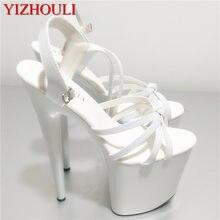 O mocno rozdrobnionej wodoodpornej 20 cm sandały na obcasie zamszowa południowokoreańska nowe buty producenci sprzedają pokaz mody