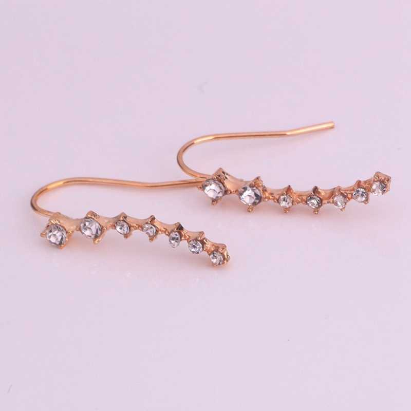 A Pair Big Dipper Alloy Stud Earrings High-Grade Simulated Diamonds Ear Stud Concise Fashion Earrings For Women