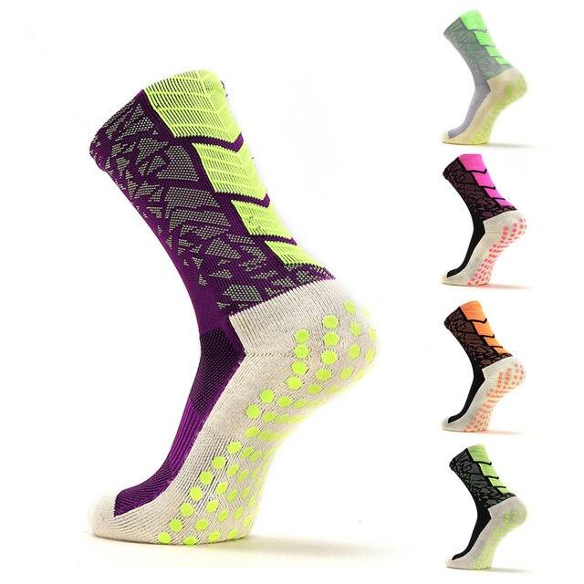 1Pair Anti-Slip Soccer Socks Men Women Sport Cotton Football Socks OutdoorCycling Hiking Running Medium stockings SP0006