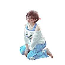 Düşük Kawaii Mei yaz oyunları kazak CG yükselişi ve parlaklık Cosplay pijama Meiling Zhou kostüm Mei Polar ayı pantolon
