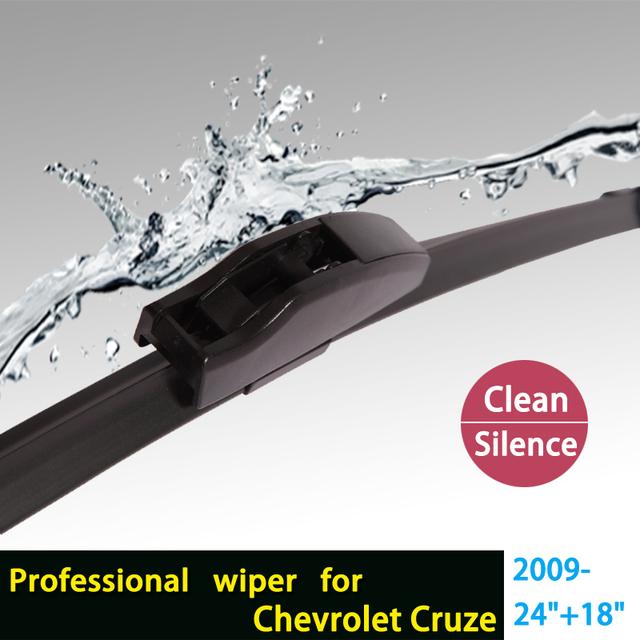 """Limpiaparabrisas para Chevrolet Cruze (Desde 2009 en adelante) 24 """"+ 18"""" estándar fit J gancho limpiaparabrisas armas sólo HY-002"""