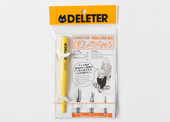 Deleter Trial Pen Set Dip Pen Set Pen Holder Maru-Pen/G-Pen/Saji Pen Cartoon Drawing Pen printio детский свитшот унисекс