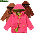 LittleSpring XLS Retail in stock! 2017 New Children hoodies Kids girls cotton hooded autumn winter warm coat