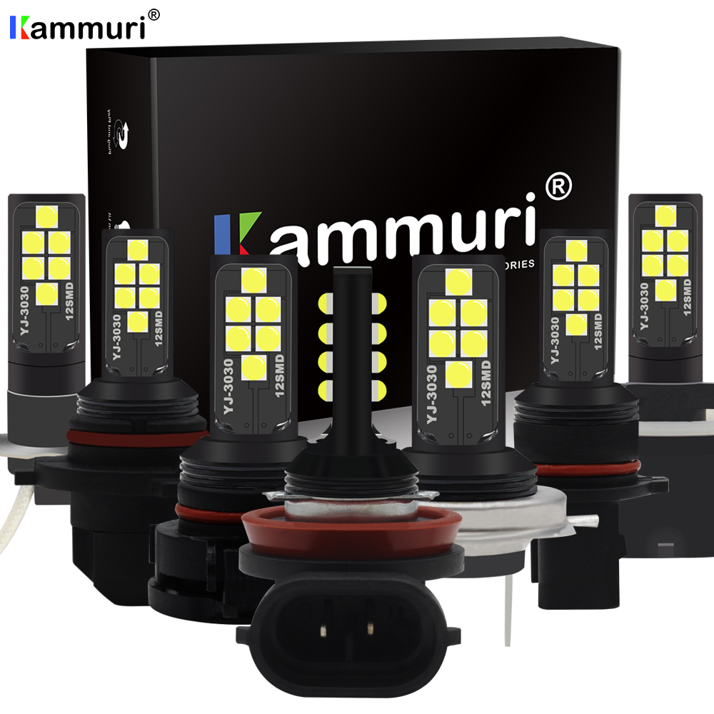 KAMMURI LED Fog Lamp H1 H3 H7 H8 H11 H16 LED HB3 9005 HB4 9006 P13W PSX26W PSX24W LED Bulbs H27W 800 881 H27w2 H27w/2 Auto Light