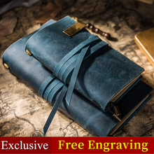 The Leather Rope Vintage Genuine Leather Travelers Notebook Tie Diary Journal Handmade Cowhide Gift Travel Notebook Free Engrave