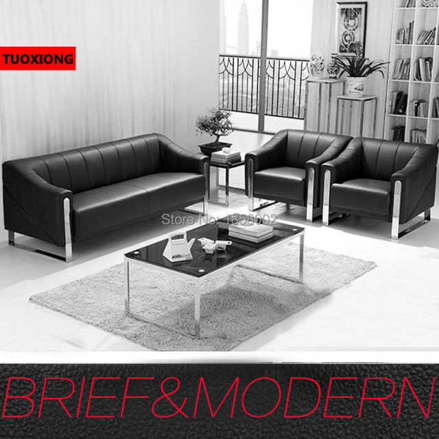 Business Office Sofa Coffee Table Set Furniture Salon Sofas Commercial Furnitures Executive Leather Chair