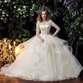 Princesa Rendas Boêmio Vestido de Noiva Vestidos De Noiva 2017 Meia Manga Plus Size Vestidos De Noiva