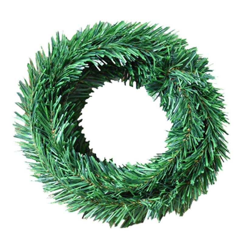 Xmas home green pine needle garland vine m leaf
