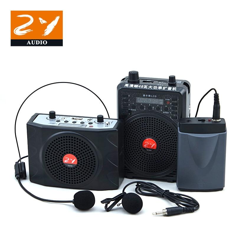 Free Shipping Wireless Voice Amplifier Lavalier Headset Mic Teaching Speaker Megaphone Teacher Tour Guide Loudspeaker PA