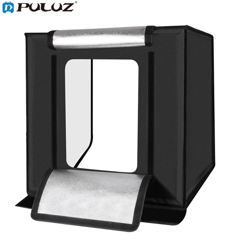Puluz PU5060 Аксессуары для фотостудий 60 см складной Портативный 60 Вт 5500 К белый свет фото Освещение Studio Стрельба палатка для телефона для камер