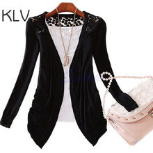 KLV Hot Sweet Candy Lace Haak Knit Blouse Top Coat Vest Shirt Trui 2018 Nieuwe(China)