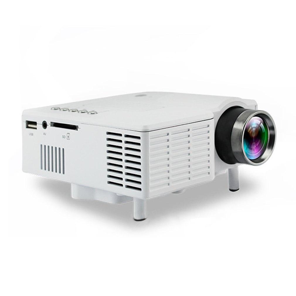 UC28B Mini projecteur à LED portable 1080P Famille Cinéma Home Cinéma USB TF Carte D'entrée Mini Beamer prise UE