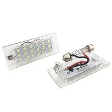 2Pcs For BMW E53 X5 E83 X3 6000k White 3528 Led License Plate Lights 12V Number Lamp Bulb