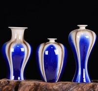 Jingdezhen ceramic color glaze vase fambe classical art crafts decoration decoration borneol three piece