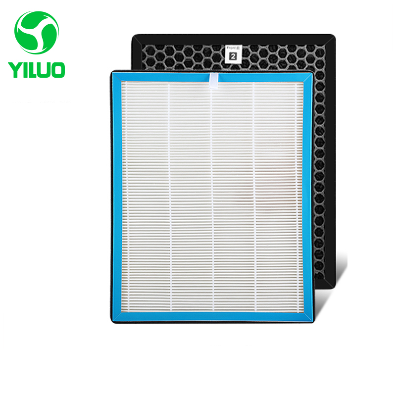 The activated carbon air filter+hepa filter cleaner parts, high efficient composite air purifier parts TKJ-F220B TKJ-F210B air filter fits zenoah model eb700 new air cleaner cheap leaf blower parts