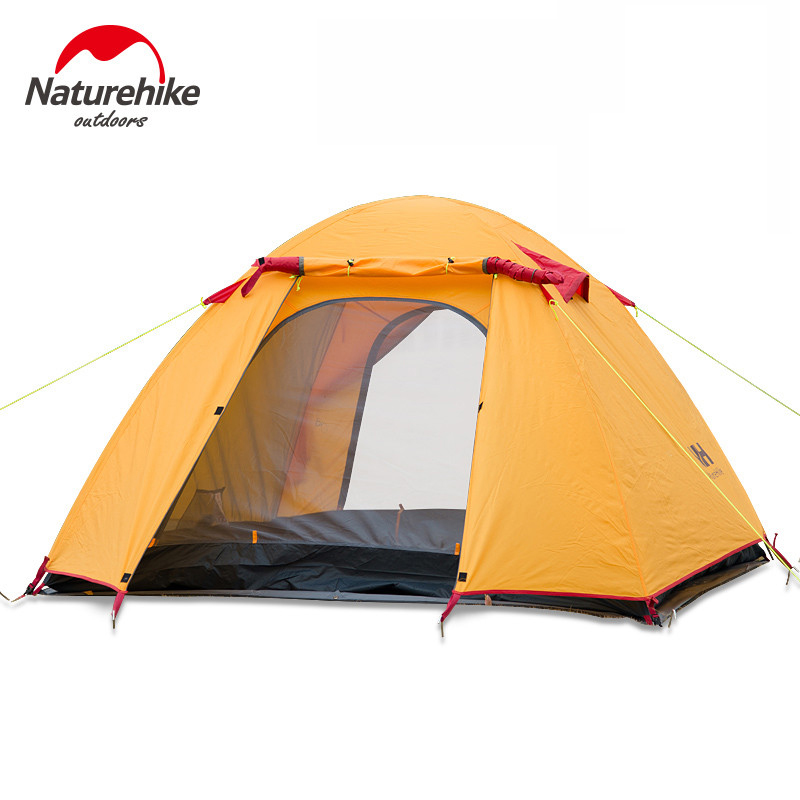 NatureHike Large Camping Tent  3-4 Person Ultralight Tents Outdoor Double-Layer Waterproof Windproof 3 Seasons Hiking mobi garden outdoor camping tent 4 seasons double layer aluminum tent two rooms big camping tent super large 3 4 persons tent