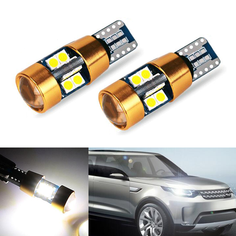 BOAOSI 2x T10 3030SMD LED Error Free Eyebrow Eyelid Light Bulb For Land Rover v8 discovery 4 2 3 x8 freelander 2 defender A8 a9
