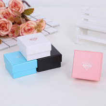 Mini Exquisite Jewelry Storage Box Kraft Paper Cosmetics Organizer Makeup Ring Stud Earring Pill Container Creative Candy Casket