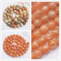 "Natural Sunstone 8mm Orange/Multi-color Round Beads 15""/48pcs,For DIYJewelry making!We provide mixed wholesale for all items !"