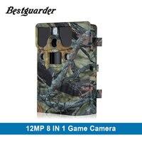 WI FI SD карты 12MP 44 шт. LED Инфракрасный Скаутинг камеры Ночное видение Охота камера ловушки дикой природы Trail камеры обнаружения 85ft