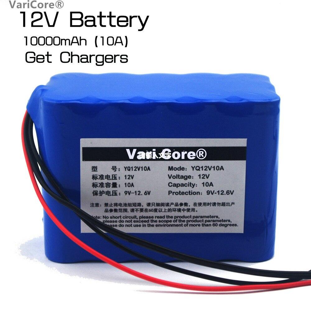 Large Capacity 12V 10Ah 18650 Protection Plate Lithium Battery 12.6V 10000 mAh Battery Capacity + 12V 3A Charger 2016 promotion new standard battery cube 3 7v lithium battery electric plate common flat capacity 5067100 page 9