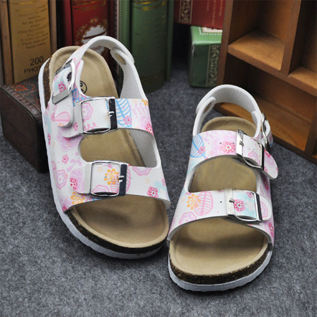 Girls' Colorful Cotton Sandals