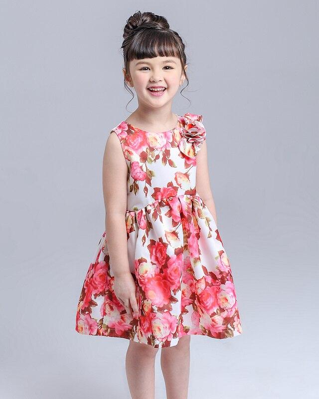 ̿̿̿(•̪ )Niños Niñas Vestidos niños imprimir vintage flor floral sin ...