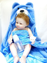 NPK 20 inch Full Silicone body Baby Doll smile baby doll toys 50 cm bebe all Vinyl Realisticl reborn Dolls for kits beth toys 22 inch baby reborn doll toys full body soft silicone vinyl non toxic safe realistic bebe newborn doll toys best gift for girls
