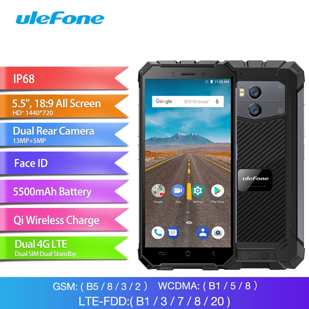 Ulefone Armor X Waterproof IP68 Smartphone 5 5 HD Quad Core Android 8 1 2GB 16GB