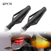 4pc 24 LED Waterproof Motorcycle Turn Signal Lights Indicator Lamp Amber + White #smt0502(China)