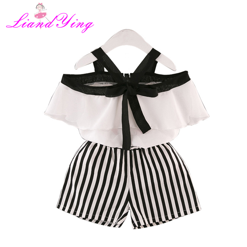 Girls Clothing Sets Kids Clothes Baby Girl Clothes 2018 Summer Baby Bay Clothes Chiffon  ...