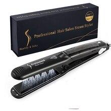 X-LASH Professional Steam Hair Straightener Ceramic Vapor Hair Flat Iron Steam Hair Straightening Iron Hair Styling