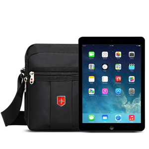 Image 5 - Swiss Brand Shoulder Bag for Men Daily Waterproof Oxford Messenger Bags Unisex Multifunctional Business Casual Briefcase bag