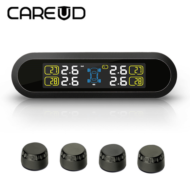 Smart Car LCD Display TPMS Wireless Tyre Pressure Monitoring System 4 external/internal Sensors For 4 wheels Cars Solar Power tpms wireless lcd display car tire tyre pressure monitoring system 4 external internal sensors for 4 wheels cars solar power