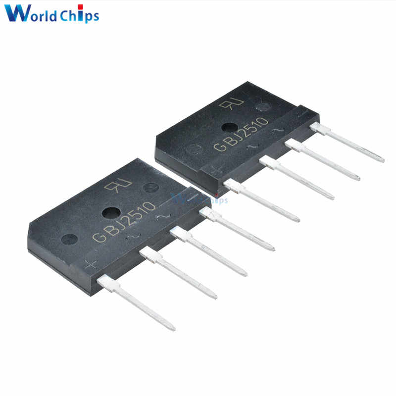 5PCS GBJ2510 1000V 25A Diode Bridge Rectifier Single Phase Bridge Rectifier Neue Ankunft