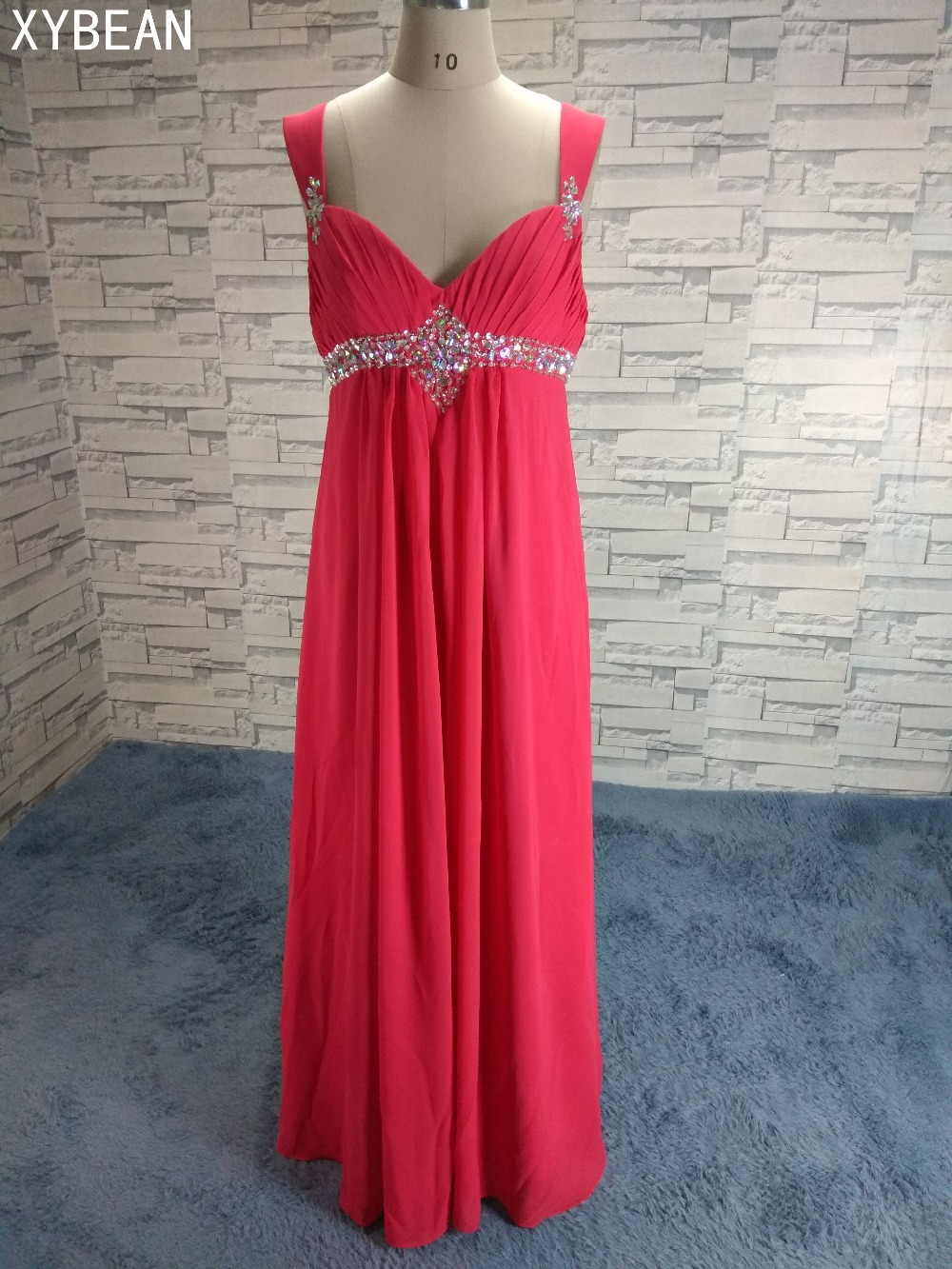 Free Shipping ! 2018 New Arrival Beading Sashes Chiffon Long prom Dresses  Size 4 18-in Prom Dresses from Weddings   Events on Aliexpress.com  7317d334a0d9
