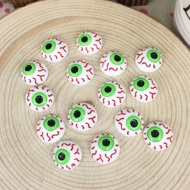 10 HALLOWEEN MIXED EYEBALLS FLATBACKS FAST FREE SHIPPING