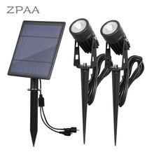 Lampes imperméables pour le paysage, projecteur solaire étanche IP65 en LED à alimentation solaire lampes de pelouse pour lextérieur/le jardin/la cour/le jardin/le jardin