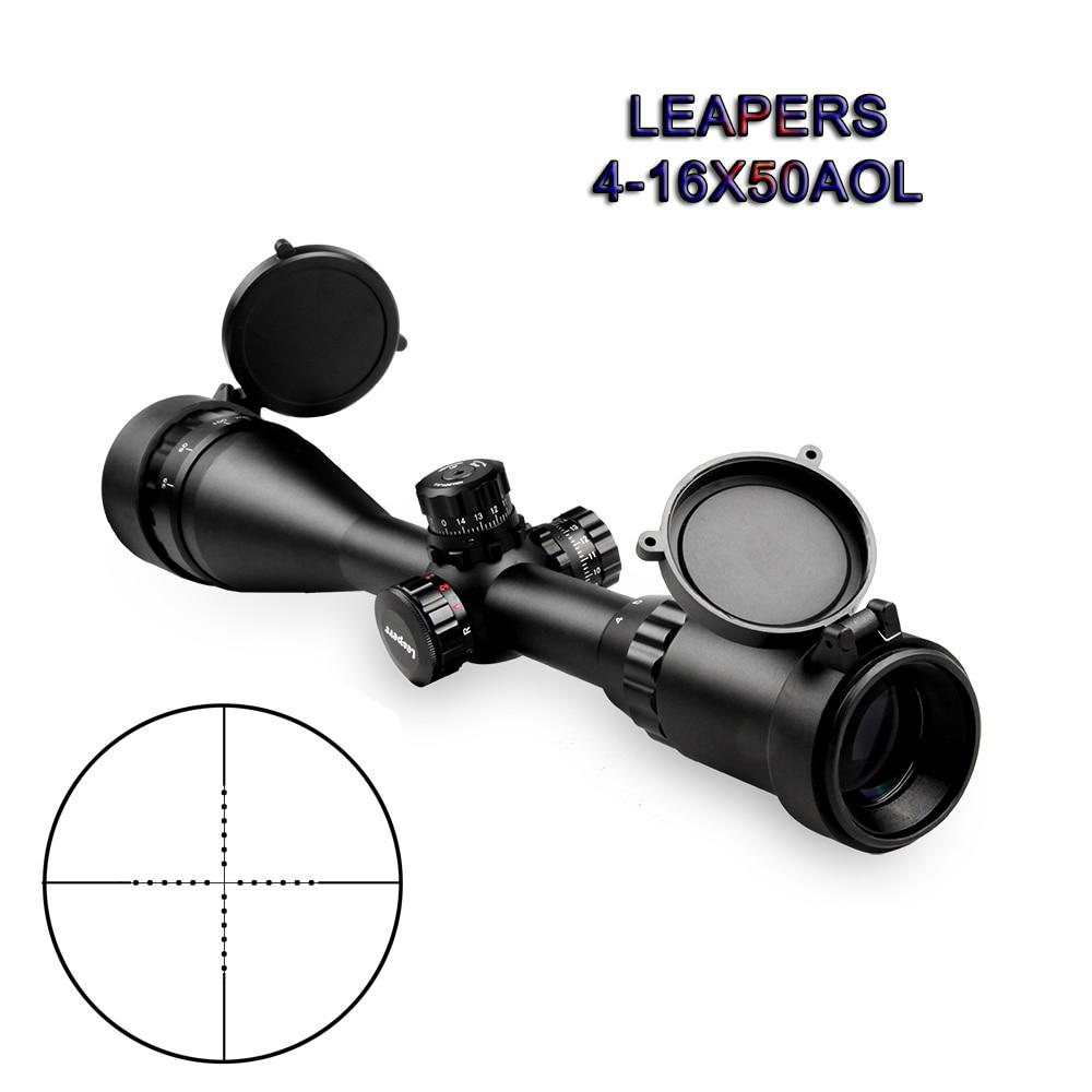 LEAPERS 4-16X50 Riflescope Sight Tactical Hunting Accessories Aim  Rifle Scope Luneta Para Rifle Hunting Scope